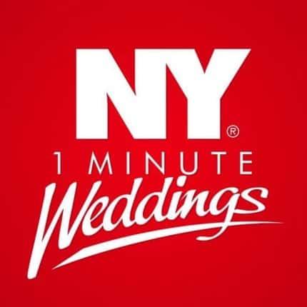Logo New York 1 minutes Weddings